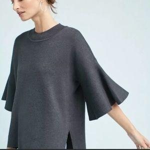 Anthropologie Lorena flutter sleeve pullover